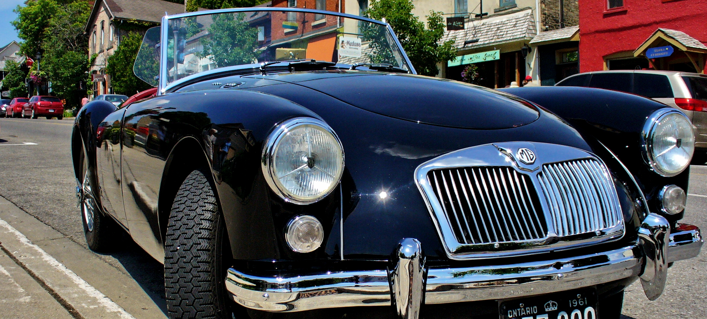 Old British MG in Black