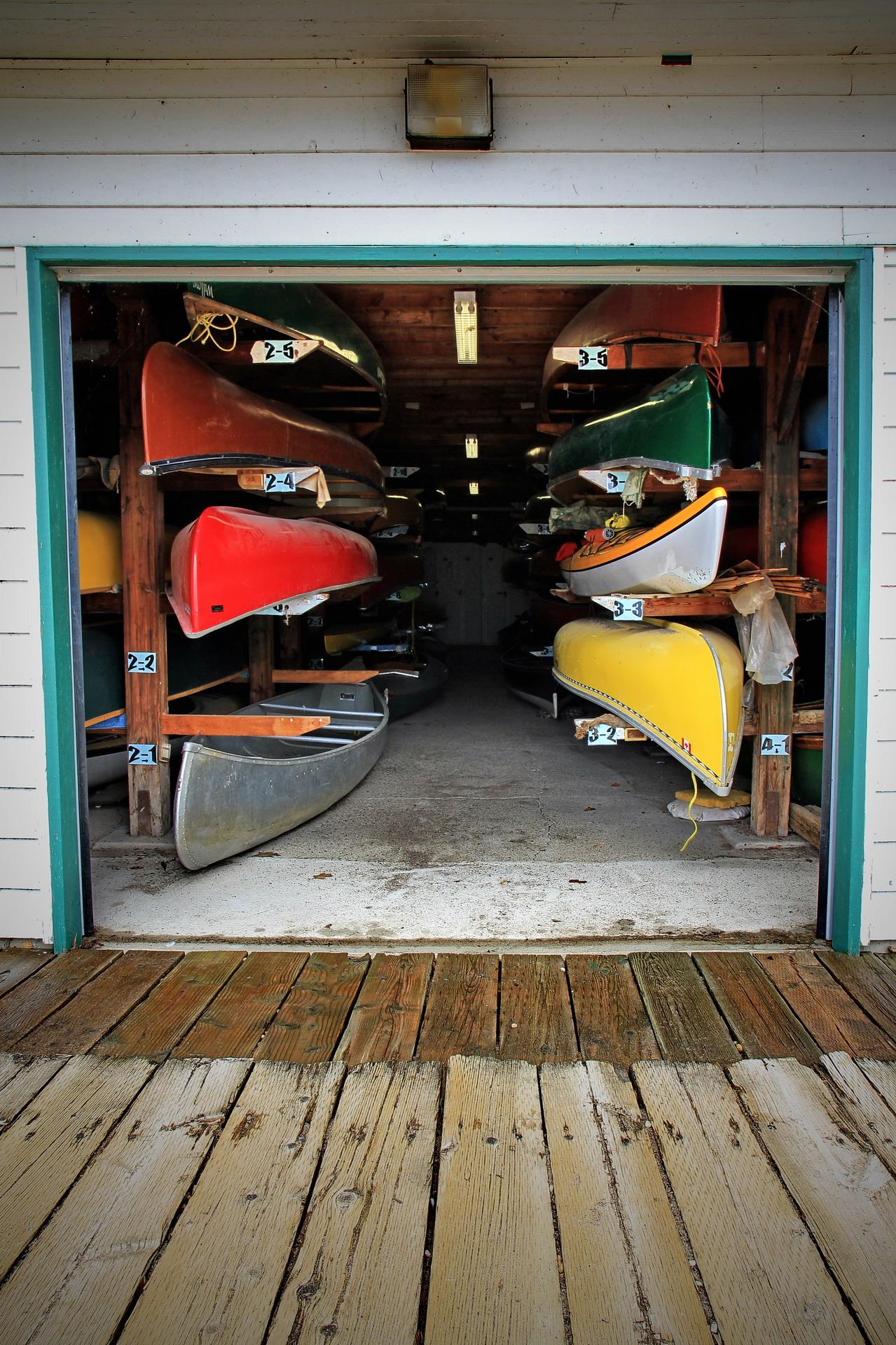 Canoes a plenty the lazy photographer for Canoe storage shed